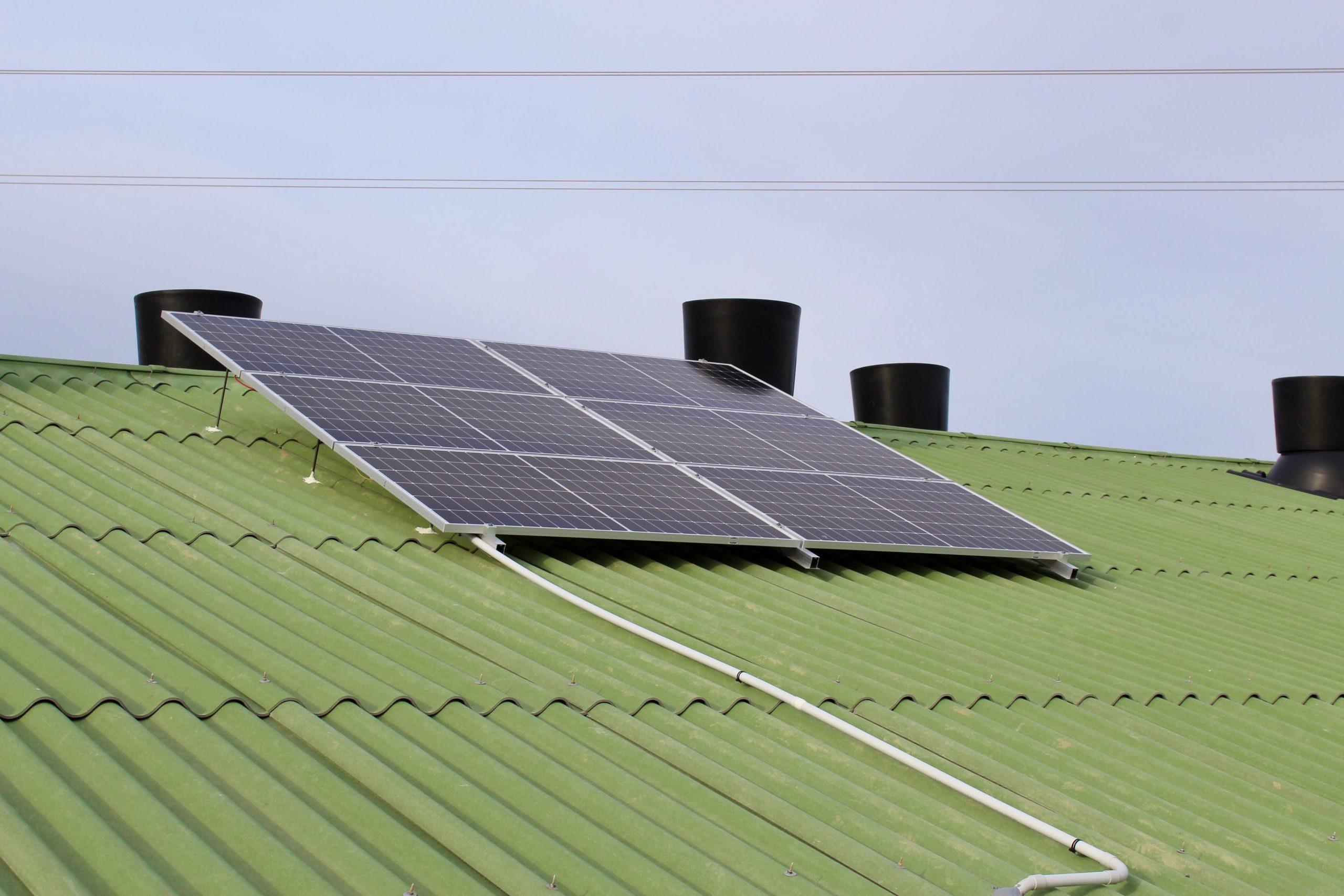panel solar granja
