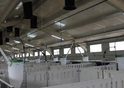 Iluminación eléctrica BT en granja de engorde, Caspe (Zaragoza)